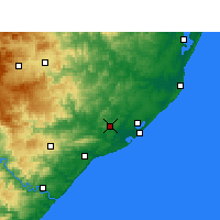 Nearby Forecast Locations - Empangeni - Carte