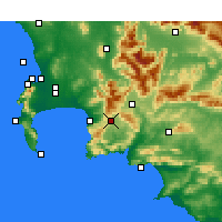 Nearby Forecast Locations - Grabouw - Carte