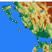 Nearby Forecast Locations - Parga - Carte