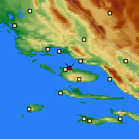 Nearby Forecast Locations - Supetar - Carte
