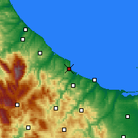 Nearby Forecast Locations - Vasto - Carte