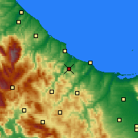 Nearby Forecast Locations - Montenero di Bisaccia - Carte