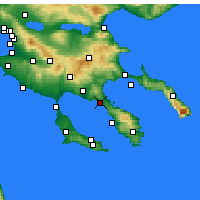 Nearby Forecast Locations - Nikiti - Carte