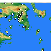 Nearby Forecast Locations - Anavyssos - Carte
