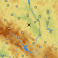 Nearby Forecast Locations - Vodňany - Carte