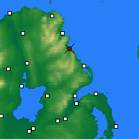 Nearby Forecast Locations - Glenarm - Carte