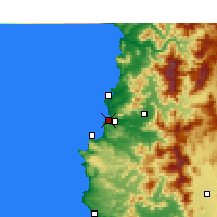 Nearby Forecast Locations - Concón - Carte