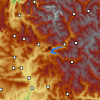 Nearby Forecast Locations - Chorges - Carte