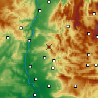 Nearby Forecast Locations - Dieulefit - Carte