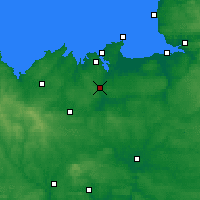 Nearby Forecast Locations - Dinan - Carte