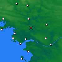 Nearby Forecast Locations - Saint-Gildas-des-Bois - Carte