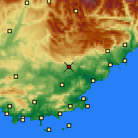 Nearby Forecast Locations - Draguignan - Carte