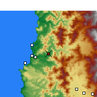 Nearby Forecast Locations - Quillota - Carte