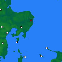 Nearby Forecast Locations - Grenå - Carte