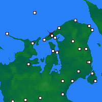 Nearby Forecast Locations - Liseleje - Carte