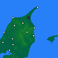 Nearby Forecast Locations - Ålbæk - Carte