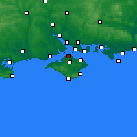 Nearby Forecast Locations - Cowes - Carte