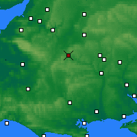 Nearby Forecast Locations - Warminster - Carte