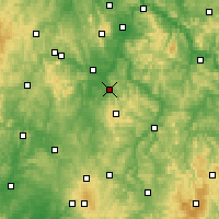 Nearby Forecast Locations - Homberg (Efze) - Carte