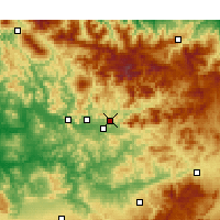 Nearby Forecast Locations - Taounate - Carte
