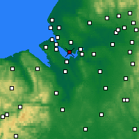 Nearby Forecast Locations - Liverpool - Carte