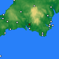 Nearby Forecast Locations - Plymouth - Carte