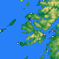 Nearby Forecast Locations - Kilchoan - Carte