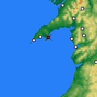 Nearby Forecast Locations - Abersoch - Carte