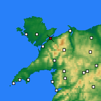 Nearby Forecast Locations - Menai Bridge - Carte