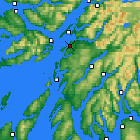 Nearby Forecast Locations - Oban - Carte
