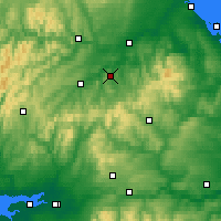 Nearby Forecast Locations - Jedburgh - Carte