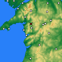 Nearby Forecast Locations - Llyn Trawsfynydd - Carte