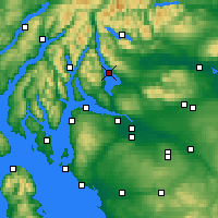 Nearby Forecast Locations - Loch Lomond - Carte
