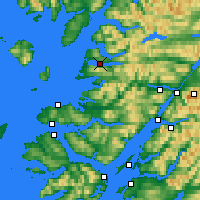 Nearby Forecast Locations - Loch Morar - Carte