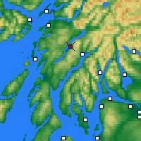Nearby Forecast Locations - Loch Awe - Carte