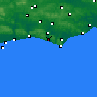 Nearby Forecast Locations - Newhaven - Carte