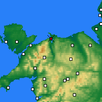 Nearby Forecast Locations - Conwy - Carte