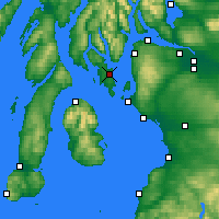 Nearby Forecast Locations - Rothesay - Carte