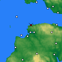 Nearby Forecast Locations - Ilfracombe - Carte