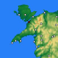 Nearby Forecast Locations - Caernarfon - Carte