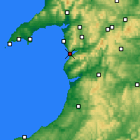 Nearby Forecast Locations - Barmouth - Carte