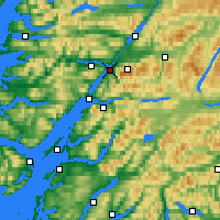 Nearby Forecast Locations - Fort William - Carte