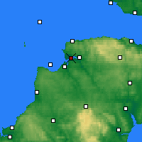 Nearby Forecast Locations - N-Devon - Carte