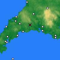 Nearby Forecast Locations - Liskeard - Carte