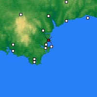 Nearby Forecast Locations - Torquay - Carte
