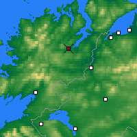 Nearby Forecast Locations - Letterkenny - Carte