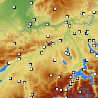 Nearby Forecast Locations - Olten - Carte