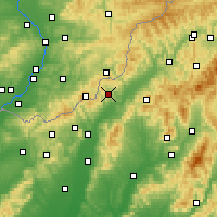 Nearby Forecast Locations - Horná Súča - Carte