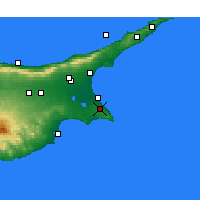 Nearby Forecast Locations - Paralimni - Carte