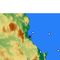 Nearby Forecast Locations - Fourmile Beach - Carte